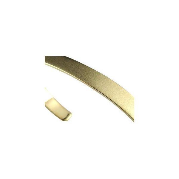 18金 バングル メンズ ブレスレット イエローゴールドk18 シンプル ホーニング加工 マット仕上げ つや消し レディース クリスマス 女性