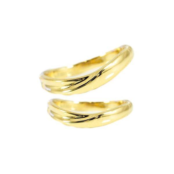 マリッジリング 結婚指輪 ペアリング イエローゴールドk18 結婚式 18金 ストレート カップル メンズ レディース