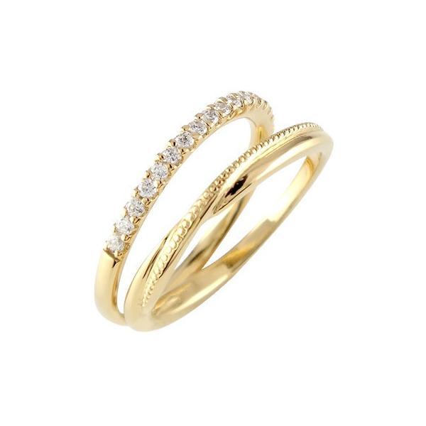 ピンキーリング ダイヤモンド エタニティ ハーフエタニティ リング ダイヤ 指輪 ミル打ち 10金リング ストレート クリスマス 女性