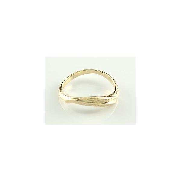 フェザー 羽 V字 婚約指輪 エンゲージリング ダイヤモンド フェザー イエローゴールドk18 18金 ダイヤモンドリング ウェーブリング ダイヤ スリーストーン