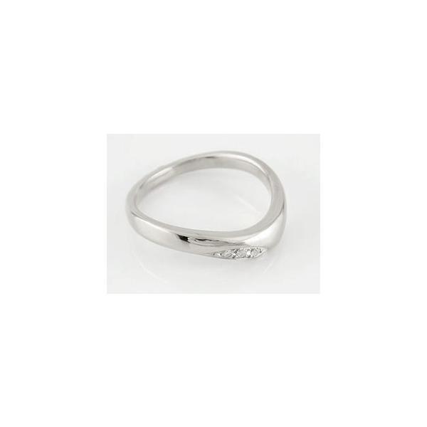 S字 V字 結婚指輪 ペアリング マリッジリング キュービックジルコニア シルバー ウェーブリング カップル メンズ レディース クリスマス 女性