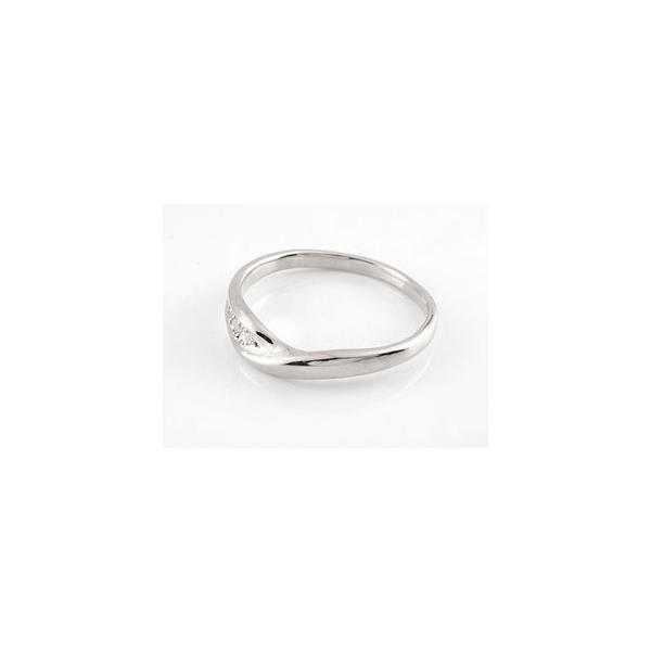 結婚指輪 ペアリング プラチナ ダイヤモンド V字 ウェーブリング|atrussun|02