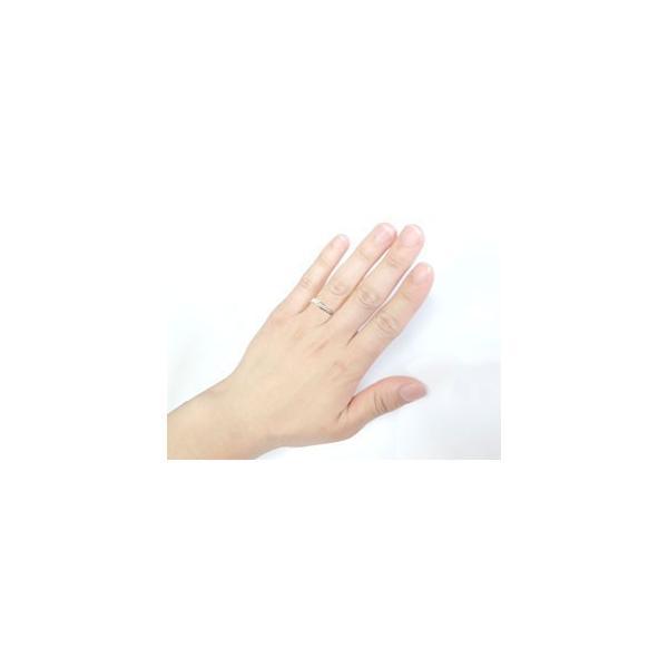 結婚指輪 ペアリング プラチナ ダイヤモンド V字 ウェーブリング|atrussun|03