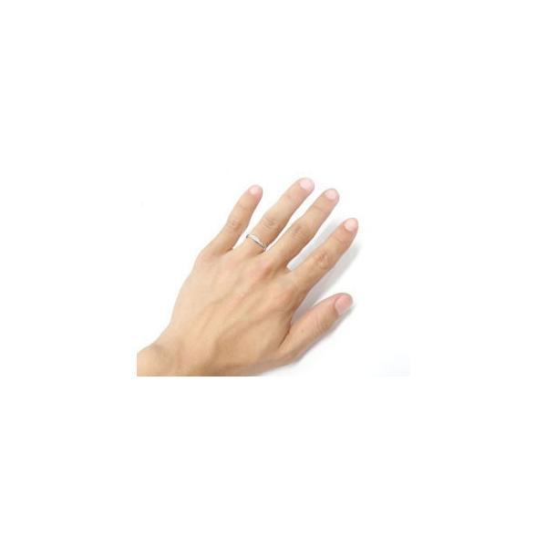 結婚指輪 ペアリング プラチナ ダイヤモンド V字 ウェーブリング|atrussun|05