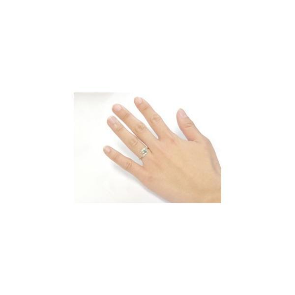 ピンキーリング ハワイアンジュエリー リング ブルームーンストーン ホワイトゴールドk18 指輪 ハワイアンリング 6月誕生石 18金 k18wg ストレート 宝石 母の日