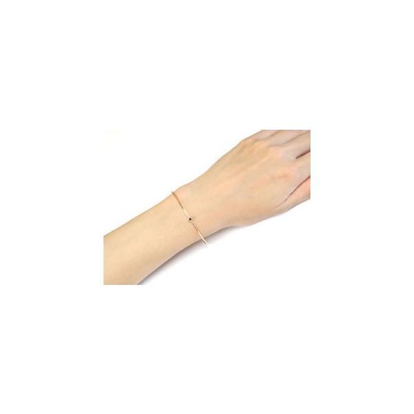 18金 バングル メンズ ブレスレット ガーネット 一粒 ピンクゴールドk18 1月誕生石 レディース 宝石 クリスマス 女性