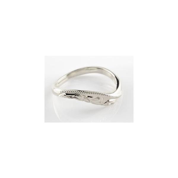 ペアリング プラチナ ハワイアン 結婚指輪 ミル打ち 結婚式 ウェーブリング ストレート カップル クリスマス 女性