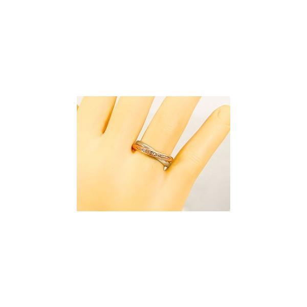 結婚指輪 ペアリング プラチナ ダイヤ ダイヤモンド マリッジリング ピンクゴールドk18 結婚式 18金 ストレート カップル メンズ レディース クリスマス 女性
