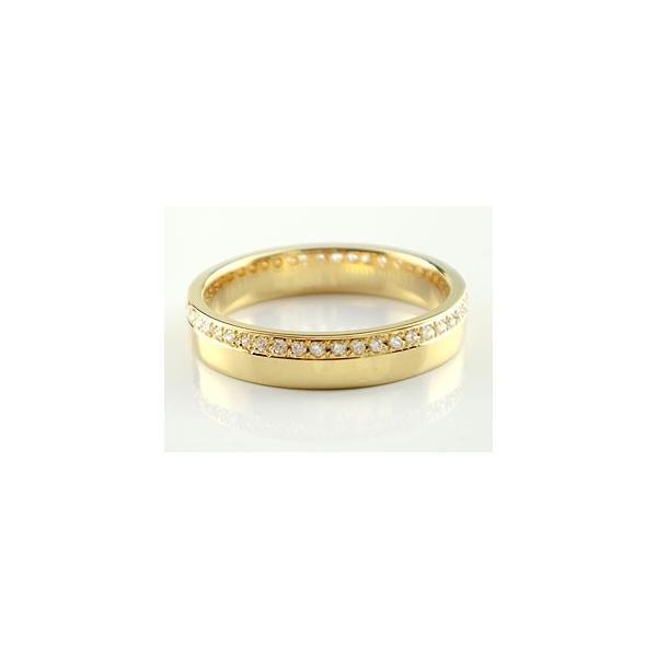 ピンキーリング ダイヤモンド エタニティ フルエタニティリング 指輪 イエローゴールドk18 18金 ダイヤ ストレート クリスマス 女性