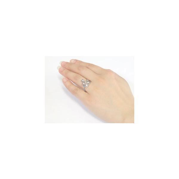 ピンキーリング 猫 プラチナ リング タンザナイト 指輪 12月誕生石 ストレート 宝石