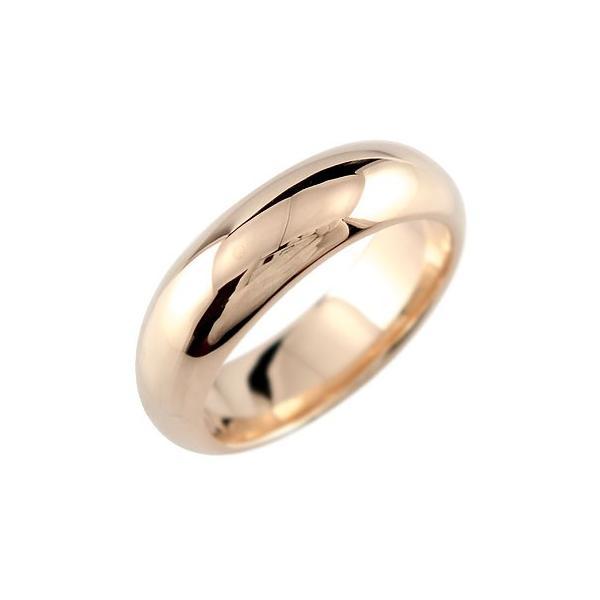 ピンキーリング ピンクゴールドk18 リング 指輪 甲丸 地金リング 宝石なし 18金 クリスマス 女性