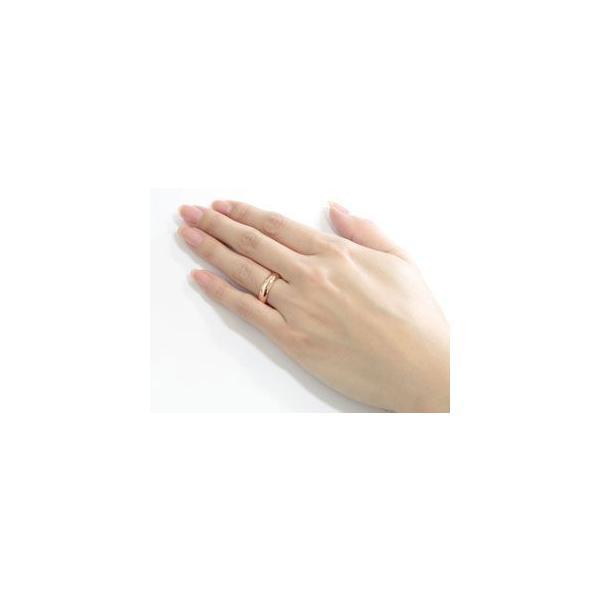 ペアリング 結婚指輪 マリッジリング ピンクゴールドk18 地金リング 宝石なし 甲丸 18金 ストレート カップル クリスマス 女性