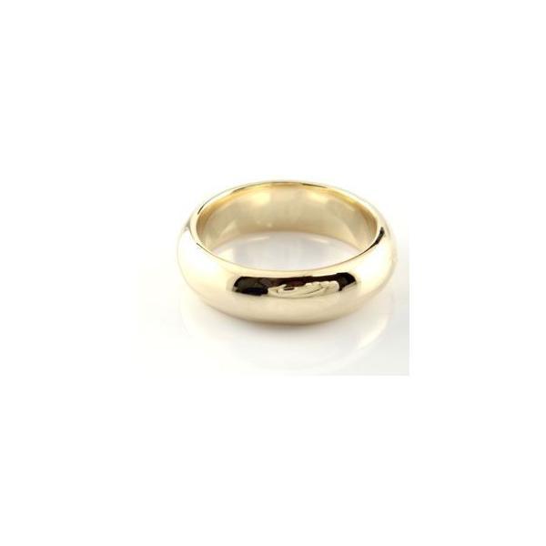 ペアリング 結婚指輪 マリッジリング イエローゴールドk18 地金リング 宝石なし 甲丸 18金 ストレート カップル クリスマス 女性