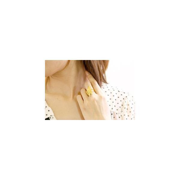 ピンキーリング 指輪 蝶 リング バタフライ 地金リング イエローゴールドk18 18金 クリスマス 女性