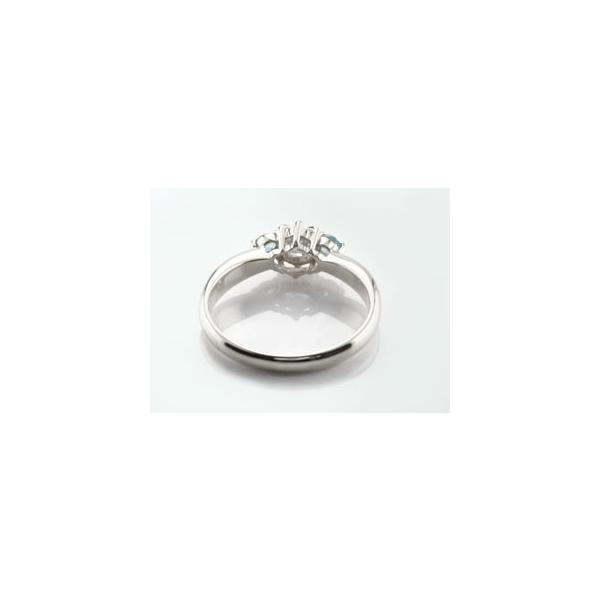 ピンキーリング 鑑定書付 ダイヤモンド リング ブルートパーズ 指輪 大粒 ダイヤ ホワイトゴールドK18 18金 ダイヤモンドリング ダイヤ ストレート 宝石