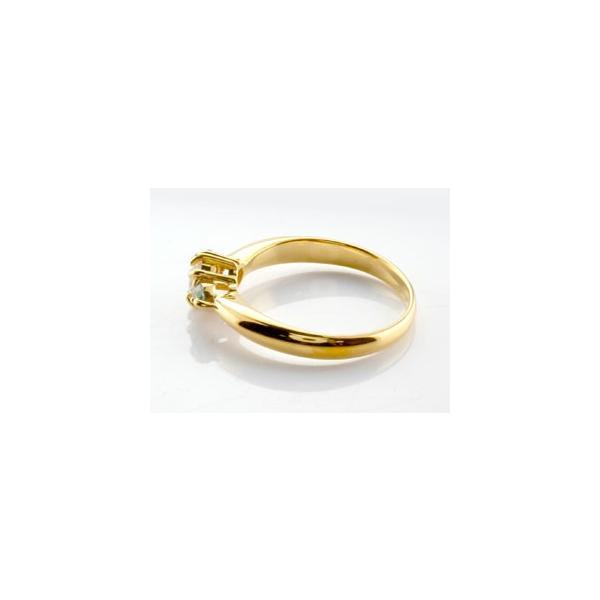 ピンキーリング 鑑定書付 ダイヤモンド リング ペリドット 指輪 大粒 ダイヤ イエローゴールドK18 18金 ダイヤモンドリング ダイヤ ストレート 宝石
