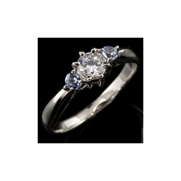 ピンキーリング プラチナ ダイヤモンド リング タンザナイト 指輪 大粒 ダイヤ ダイヤモンドリング ダイヤ ストレート 宝石 クリスマス 女性