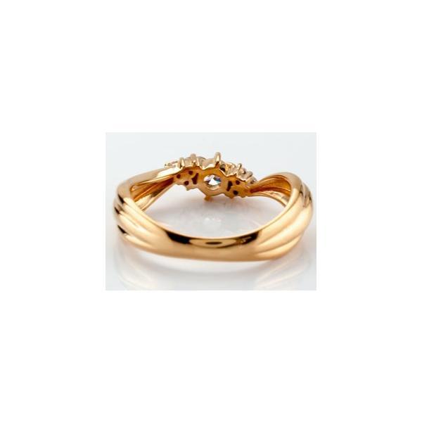 ピンキーリング 鑑定書付 ダイヤモンド リング 指輪 ダイヤ ピンクゴールドk18 18金 ダイヤモンドリング ストレート クリスマス 女性