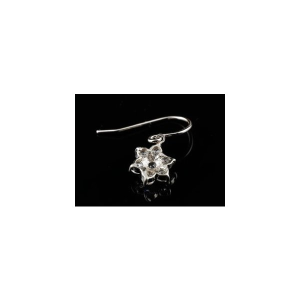 ダイヤモンド タンザナイト プラチナ ピアス フラワー 花 フックピアス レディース 天然石 ダイヤ レディース 宝石 クリスマス 女性