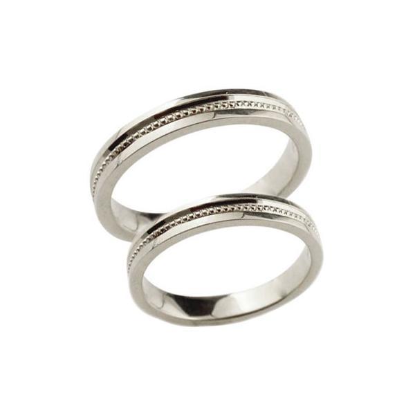 ペアリング 人気 結婚指輪 マリッジリング 結婚式 地金リング ミル打ち 宝石なし シンプル シルバー ストレート カップル クリスマス 女性