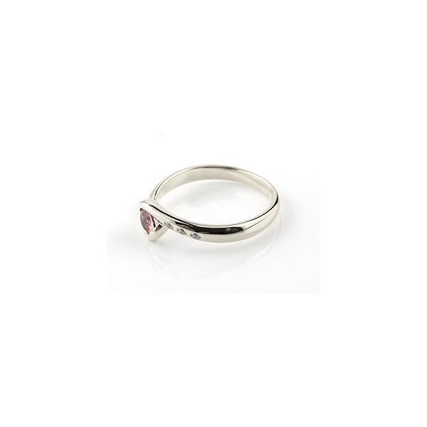 ピンキーリング ピンクトルマリン シルバーリング 指輪 キュービックジルコニア スパイラルリング 大粒 レディース 10月誕生石 ストレート 宝石 クリスマス 女性