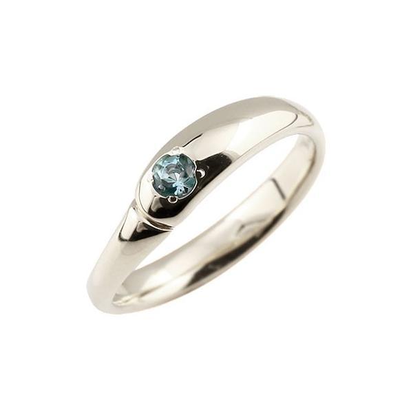 ピンキーリング ブルートパーズ リング 指輪 シルバーリング シンプル 一粒 レディース 11月誕生石 ストレート 宝石 クリスマス 女性