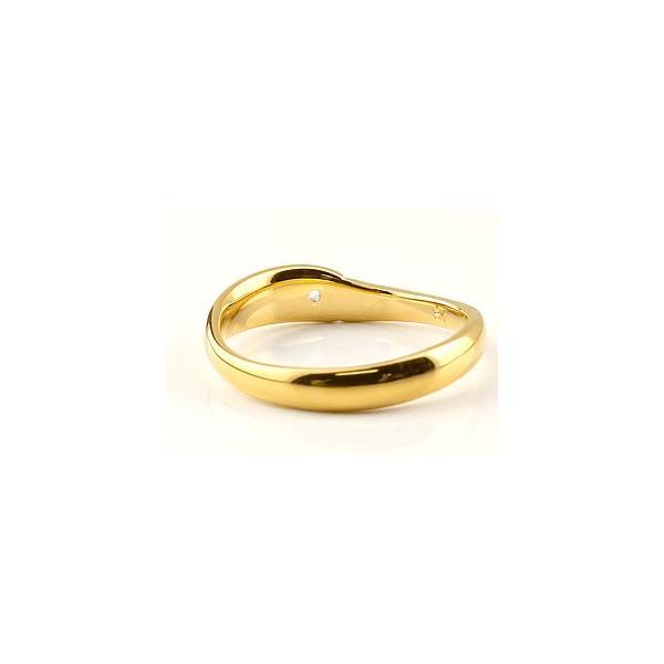 ピンキーリング ピンクトルマリン リング 指輪 イエローゴールドk18 18金 シンプル 一粒 レディース 10月誕生石 ストレート 宝石 クリスマス 女性