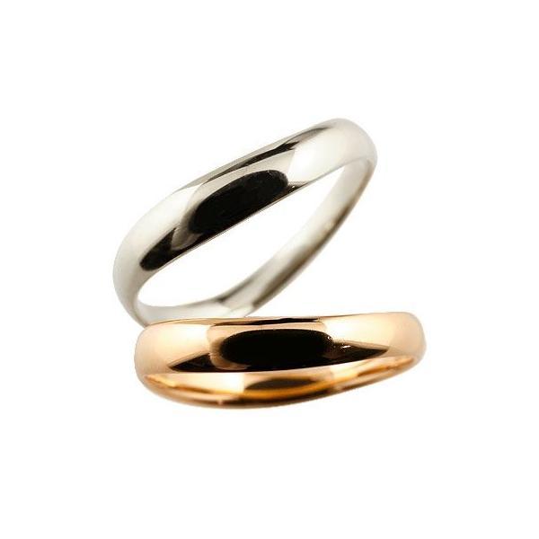 V字 ペアリング 人気 結婚指輪 マリッジリング ホワイトゴールドk18 ピンクゴールドk18 地金リング 18金 ブイ字 結婚式 シンプル 宝石なし ウェーブリング