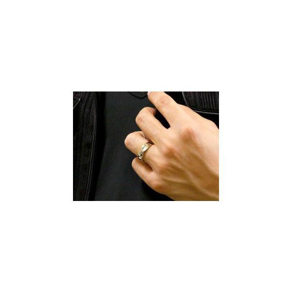 結婚指輪 ペアリング プラチナ ダイヤ ダイヤモンド マリッジリング 幅広 つや消し イエローゴールドk18 結婚式 18金 ストレート カップル メンズ レディース