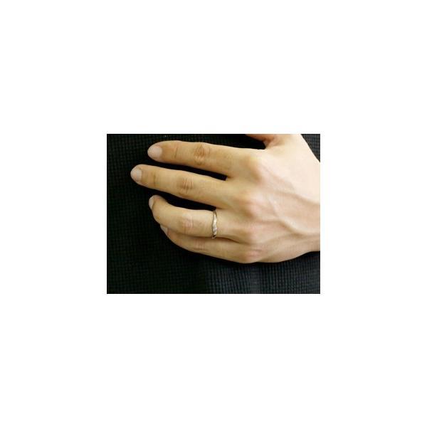 ペアリング ダイヤモンド 結婚指輪 マリッジリング シルバー つや消し ストレート カップル クリスマス 女性