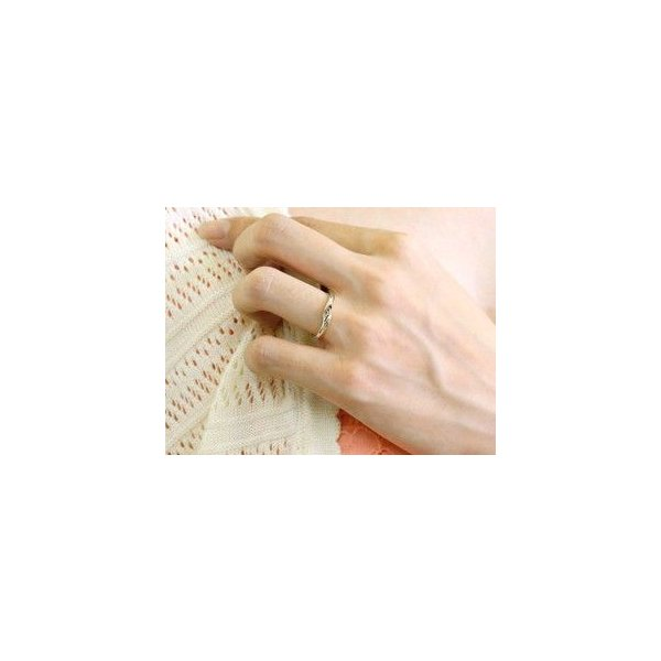 ペアリング ダイヤモンド 結婚指輪 マリッジリング ホワイトゴールドk18 シンプル つや消し 18金 ダイヤ ストレート スイートペアリィー  女性 送料無料|atrussun|03