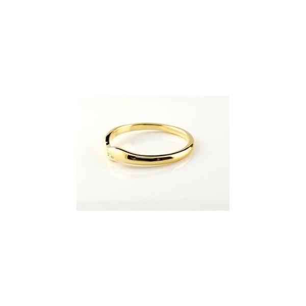 ペアリング ダイヤモンド 結婚指輪 マリッジリング イエローゴールドk18 シンプル つや消し 18金 ダイヤ ストレート スイートペアリィー クリスマス 女性