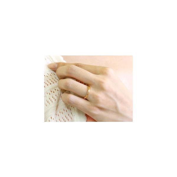 ペアリング 結婚指輪 マリッジリング 地金リング ピンクゴールドk18 ホワイトゴールドk18 つや消し 18金 ストレート スイートペアリィー 送料無料