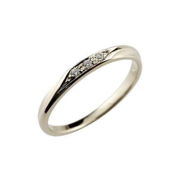 ピンキーリング 婚約指輪 エンゲージリング ハードプラチナ950 ダイヤモンドリング ダイヤ 指輪 リング つや消し pt950 レディース ストレート スリーストーン
