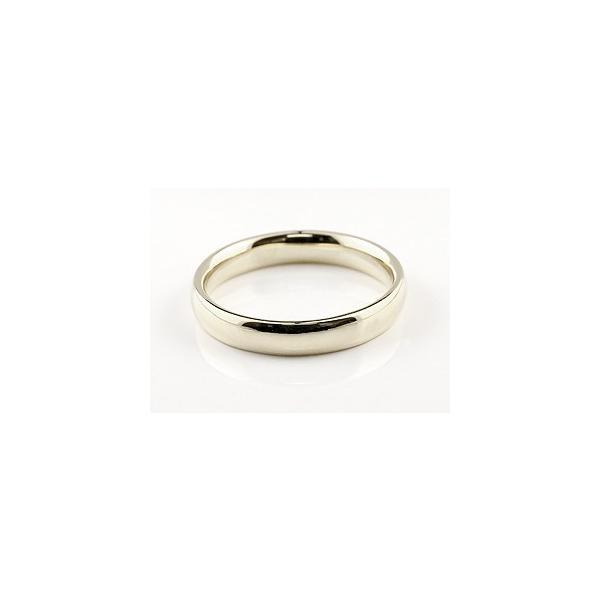 ピンキーリング 指輪 ホワイトゴールドk18 リング 地金リング リーガルタイプ 幅広 宝石なし 18金 レディース ストレート