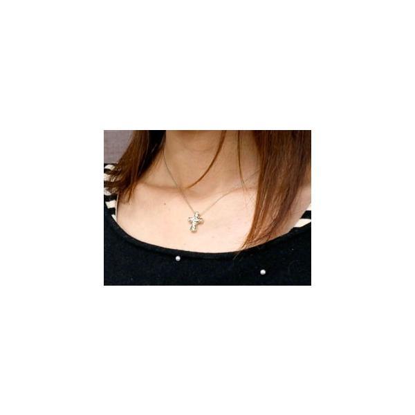 ペアネックレス ペアペンダント ハワイアンジュエリー クロス ネックレス ゴールドk18 ペンダント 十字架 地金 チェーン 人気 18金  女性