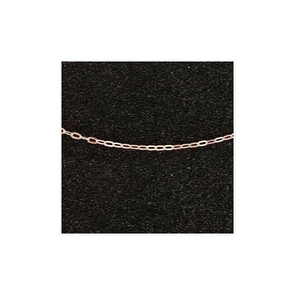 18金 ネックレス チェーン ピンクゴールドk18 アズキ 角アズキ チェーン 鎖 レディース 55cm 地金 小豆