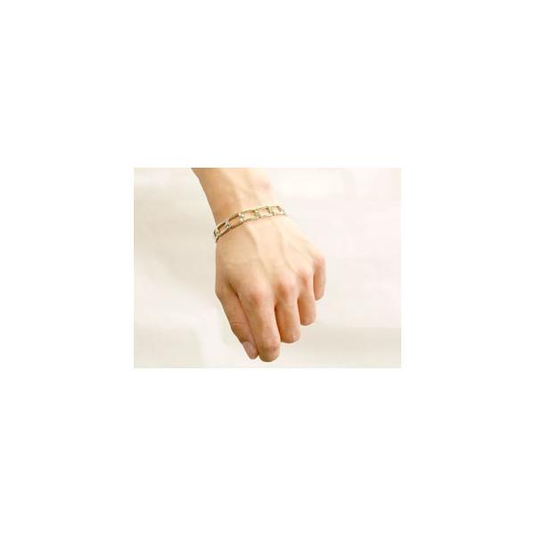 18金 ブレスレット  ペア  ホワイトゴールドk18 地金  シンプル カップル クリスマス 女性