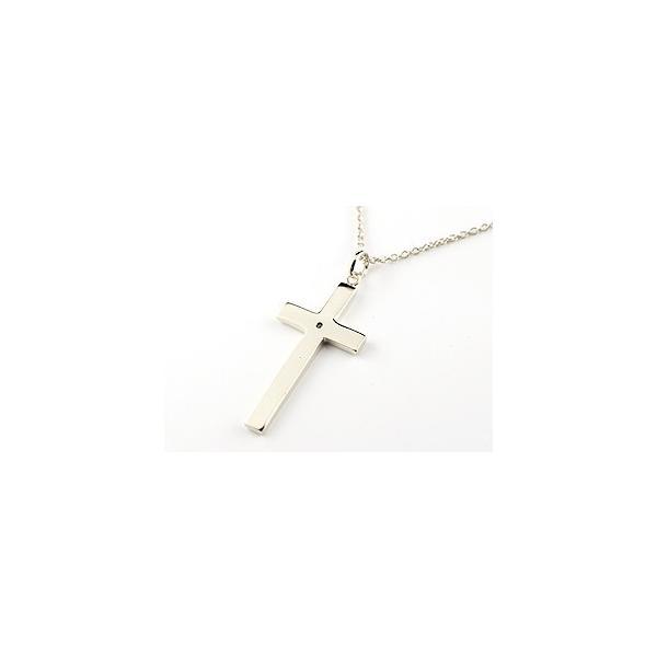 ネックレス 18金 レディース アメジスト クロス ホワイトゴールドk18 ペンダント 十字架 シンプル 地金 人気 2月の誕生石 クリスマス 女性