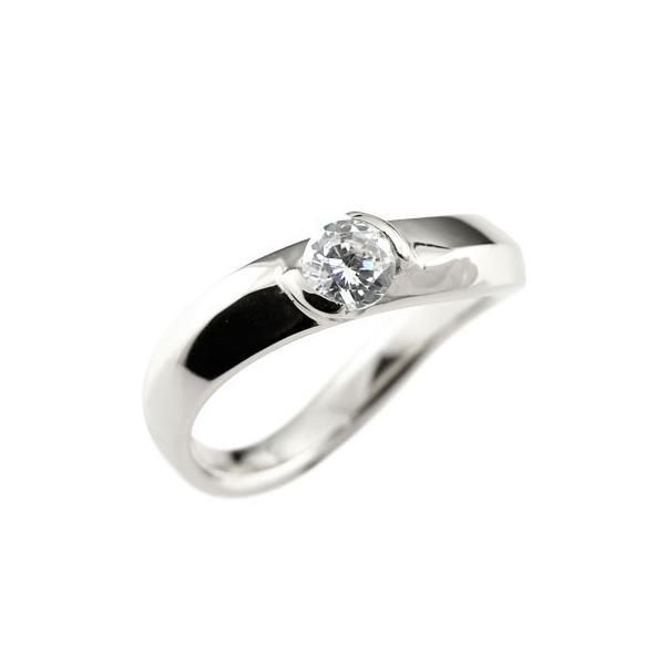 ピンキーリング 鑑定書付き ダイヤモンド プラチナリング 一粒 指輪 ダイヤ ダイヤモンドリング 大粒 0.30ct SIクラス pt900 レディース ストレート