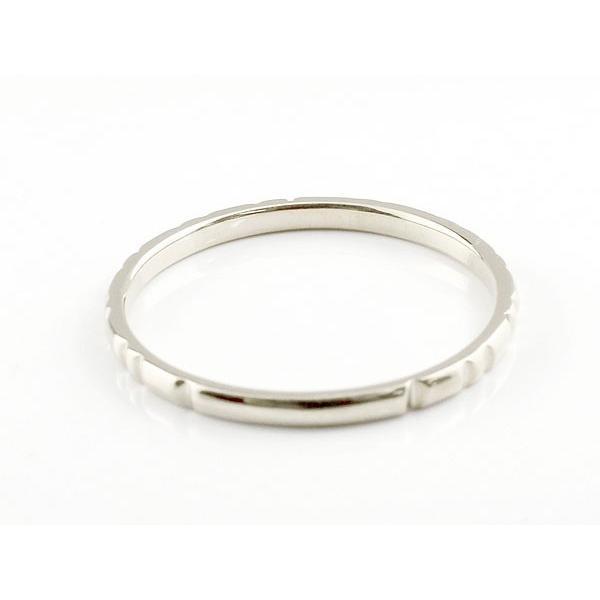 ピンキーリング ダイヤモンド 一粒 ホワイトゴールドk10 極細 10金 華奢 ストレート 指輪 クリスマス 女性