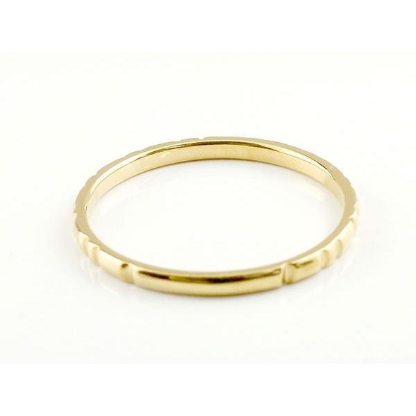 ピンキーリング 婚約指輪 エンゲージリング ダイヤモンド 一粒 イエローゴールドk18 極細 18金 華奢 ストレート 指輪 クリスマス 女性