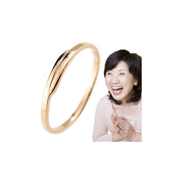 ピンキーリング ピンクゴールドk10 10金 極細 華奢 スパイラル 指輪 ばぁばリング お誕生日 母の日 敬老の日 長寿のお祝い ストレート 2.3 クリスマス 女性