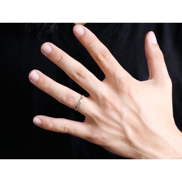 結婚指輪 安い ペアリング 結婚指輪 ハワイアンジュエリー マリッジリング プラチナ ピンクゴールドk18 ハワイアンリング V字 地金 pt900 カップル  女性 母の日