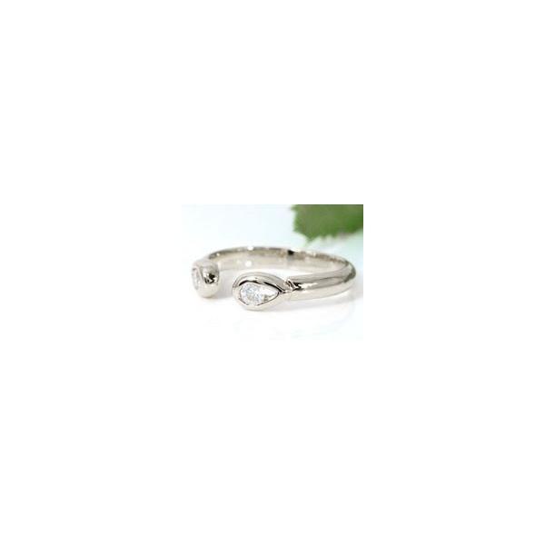 ペア トゥリング ペアリング 結婚指輪 マリッジリング キュービックジルコニア シルバー925 フリーサイズリング 指輪 ハンドメイド 結婚式 ストレート 2.3