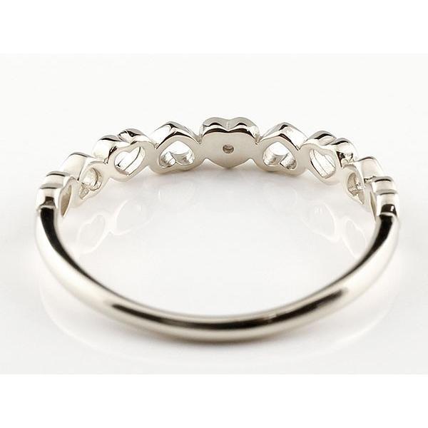 ピンキーリング 指輪 ダイヤモンド オープンハート 誕生石 ホワイトゴールドk10 10金 レディース クリスマス 女性
