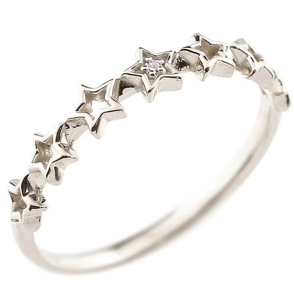 ピンキーリング 星 スター シルバーリング ダイヤモンド シンプル 指輪 華奢リング 重ね付け 指輪 細め 細身 sv925 アンティーク レディース クリスマス 女性