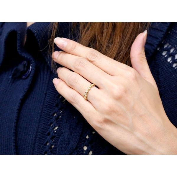 ペアリング イエローゴールドk18リング ダイヤモンド シンプル 指輪 華奢リング 重ね付け 指輪 細め 細身 k18 アンティーク レディース クリスマス 女性