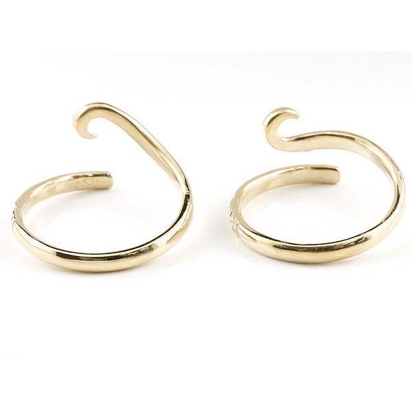 スイートハグリング ペアリング 結婚指輪 マリッジリング イエローゴールドk10 ハート フリーサイズリング 指輪 ハンドメイド 結婚式 10金 クリスマス 女性
