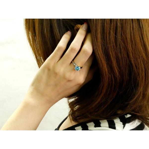 ブルートパーズ プラチナリング 指輪  ピンキーリング 大粒 一粒 pt900 レディース 11月誕生石 宝石  クリスマス 女性